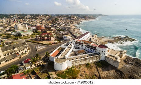 Cape Coast town ancient slave castle in Ghana, west Africa