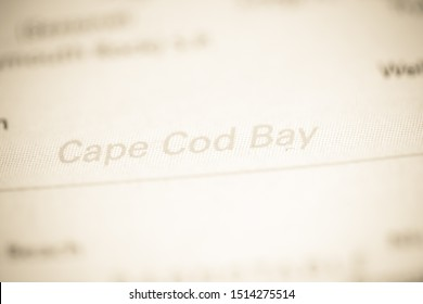 Cape Cod Bay. Massachusetts. USA on a geography map
