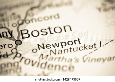 Cape Cod. USA on a map