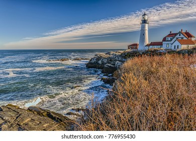 Cape Elizabeth is the home of Portland Head Light. Situated along the spectacular shores of Fort Williams Park,