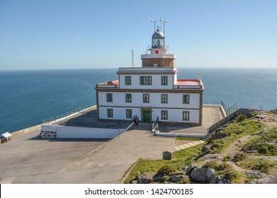 Cape Finisterre, Galicia, Spain, May 2018: Lighthouse