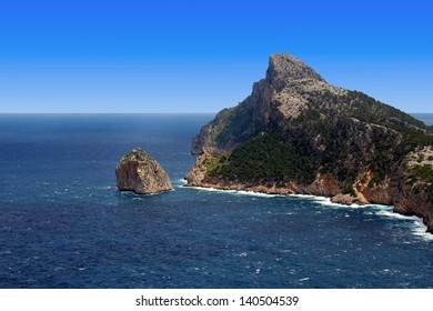 cape formentor rock in Mallorca balearic islands