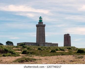 CAPE FREHEL, FRANCE - JUNE 2018: New lighthouse at Cape Frehel,  Birtanny, France.
