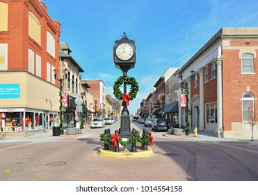 CAPE GIRARDEAU,MO, USA - NOVEMBER 20, 2017: Downtown during Christmas decoration in Cape Girardeau, Missouri, United States