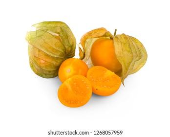 Cape gooseberry isolated on white background