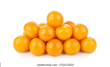 Cape gooseberry (physalis) isolated on white background.