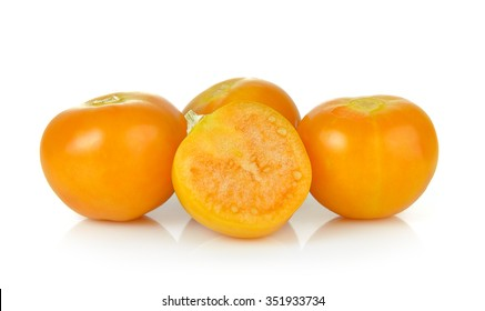 Cape gooseberry, physalis isolated on white background