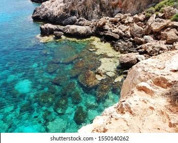 Cape Greco. Beautiful landscape of Cyprus Coast