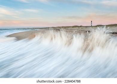 Cape Hatteras Lighthouse Hatteras Island Outer Banks North Carolina Sunrise Scenic