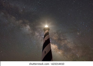 Cape Hatteras Lighthouse under the Milky Way Galaxy