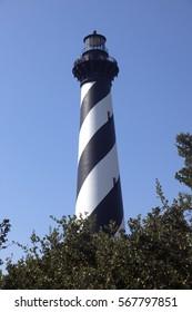 Cape Hatteras lighthouse. Vertical.