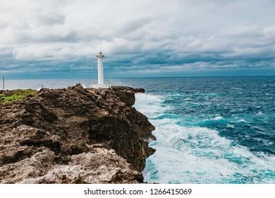 Cape Hirakubo Lighthouse, Ishigaki Island, Okinawa prefecture, Japan