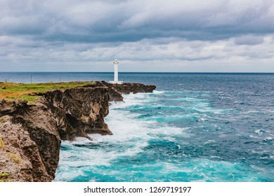 Cape Hirakubo Lighthouse, Ishigaki Island, Okinawa prefecture, Japan