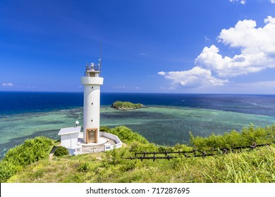 cape hirakubo lighthouse in ishigaki island