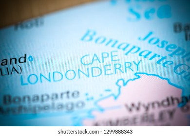 Cape Londonderry. Australia on a map