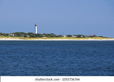 Cape May Lighthouse Guides Ships Entering Delaware Bay