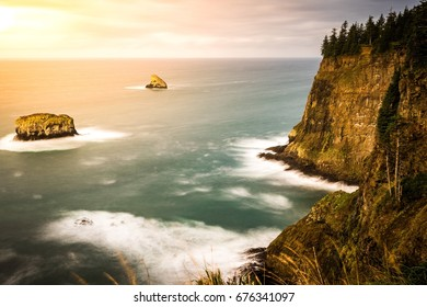 Cape Meares Cliffs and Rocks out in the Pacific Ocean