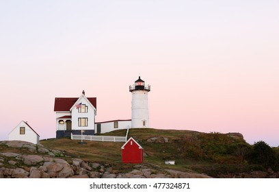 Cape Neddick Lighthouse After Sunset, Cape Neddick, York, Maine.