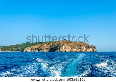 Cilento Region Italy Map.Cape Palinuro Located Southwestern Italy Southern Stock Photo Edit