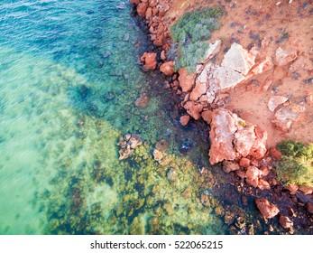Cape Peron, Francois Peron National Park, Western Australia. Aerial drone view