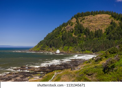 CAPE PERPETUA SCENIC AREA, OREGON, USA - JULY 23, 2009: Central Oregon coast.