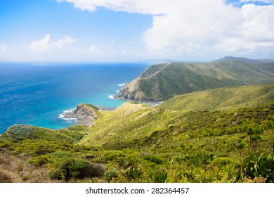 Cape Reinga, the meeting point of the Tasman Sea and the Pacific Ocean, in the Northland, North Island of New Zealand