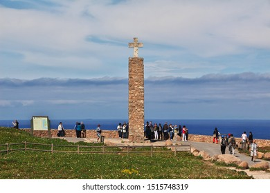 Cape Roca / Portugal - 09 May 2015: Cape Roca on Atlantic ocean, Portugal