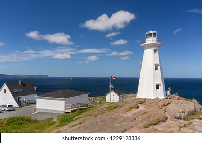 CAPE SPEAR, NEWFOUNDLAND, CANADA -  JULY 26, 2018:Cape Spear Lighthouse National Historic Site.