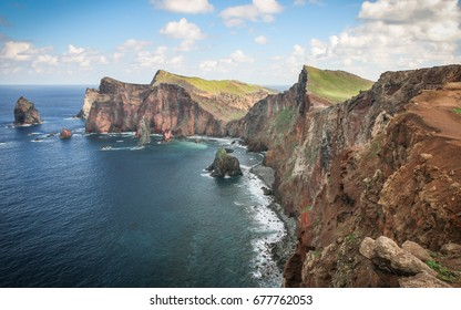 Cape of St. Lawrence on Madeira island, Portugal.