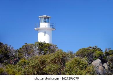 Cape Tourville Lighthouse in Freycinet National Park in Tasmania, Australia