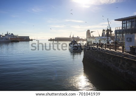 Cape Town Harbor South Africa Import Stock Photo (Edit Now