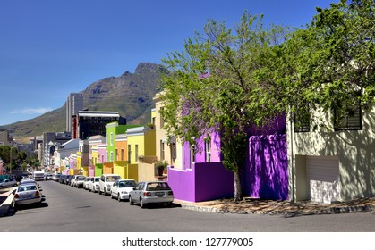 CAPE TOWN - NOVEMBER 1: City worker's cars parked in Wale Street in Bo Kaap, a district formerly known as the Malay Quarter, in Cape Town, South Africa, on November 1, 2012.