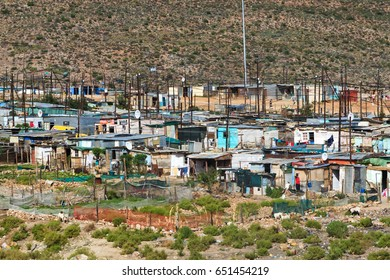 Cape Town, Republic of South Africa - April 19, 2014: poor village next to the capital