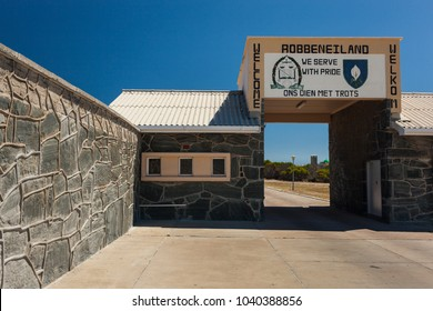 Cape Town, South Africa - 02 15 2018: Entrance Gate to Robben Island Prison