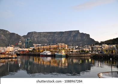 CAPE TOWN, SOUTH AFRICA -12 July 2014 - Victoria and Alfred Waterfront scenic view in Cape Town, South Africa