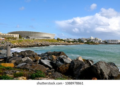 CAPE TOWN, SOUTH AFRICA -12 July 2014: Cape Town Stadium was built for the 2010 FIFA World Cup. During the planning stage, it was known as the Green Point Stadium.