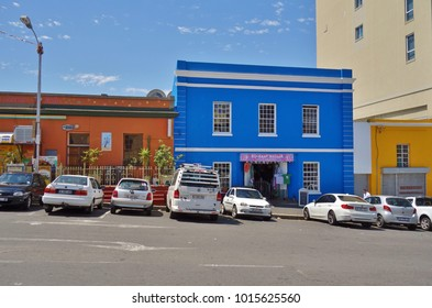 CAPE TOWN, SOUTH AFRICA -28 OCT 2017- View of colorful buildings in Bo-Kaap located in the Malay Quarter of Cape Town, South Africa.