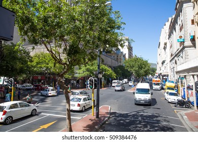 Cape Town, South Africa - 28 JANUARY 2015: Cape Town city sightseeing tour with bus