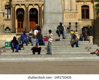 Cape town / South Africa - 29 Apr 2012: The people close City Hall, Cape town, South Africa