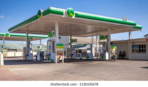 Cape Town, South Africa - 6 March, 2017: Forecourt of a fuel filling station