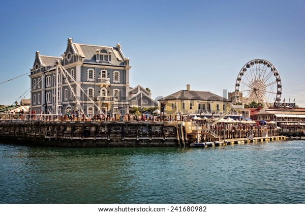 CAPE TOWN, SOUTH AFRICA - APRIL 18: Cape Town Waterfront, a modern  touristic place with shopping malls and restaurants, on April 18, 2014 in Cape Town, South Africa