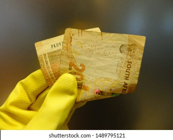 Cape Town, South Africa - Aug 6, 2019: Twenty South African Rand per hour is the first-ever national minimum wage for workers in South Africa since January 1, 2019 (National Minimum Wage Bill).