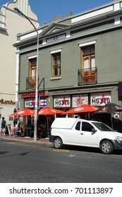 CAPE TOWN, SOUTH AFRICA - CIRCA NOVEMBER 2016: Businesses along Long Street, in the tourist district