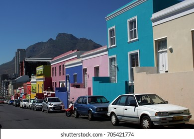 CAPE TOWN, SOUTH AFRICA - CIRCA NOVEMBER 2016: Colorful houses in the Bo-Kaap neighborhood