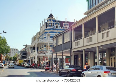 CAPE TOWN, SOUTH AFRICA - CIRCA NOVEMBER 2016: Tourist district on Long Street with Victorian architecture