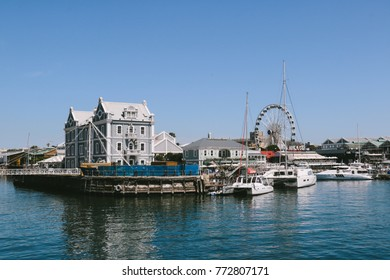 CAPE TOWN, SOUTH AFRICA - CIRCA OCTOBER 2017: Part of the Victoria & Alfred Waterfront in Cape Town