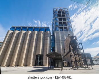 CAPE TOWN, SOUTH AFRICA -DEC 11, 2017. Zeitz Museum of Contemporary Art Africa - MOCAA located in in a reincarnated grain silo in Cape Town, South Africa