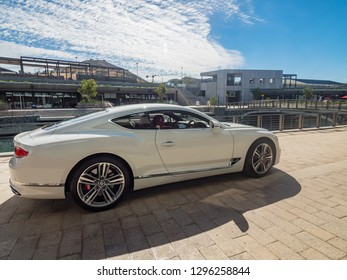 CAPE TOWN, SOUTH AFRICA - DEC 11, 2018. The new Bentley continental GT, model of year 2018
