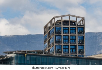 CAPE TOWN, SOUTH AFRICA -DEC 14, 2018. Zeitz Museum of Contemporary Art Africa - MOCAA located in in a reincarnated grain silo in Cape Town, South Africa