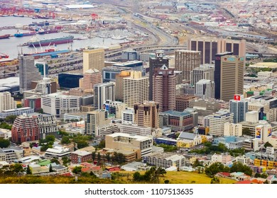 Cape Town, South Africa, December 07, 2011, Elevated view of Cape Town city foreshore business district